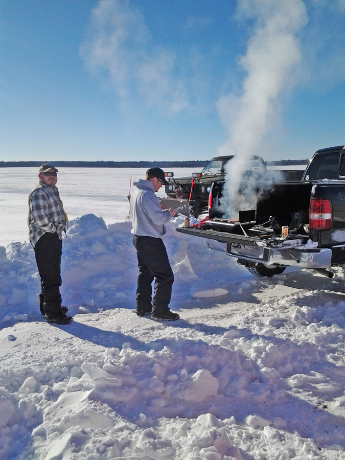 Ice fishing on lake winnie for jumbo perch walleye and for Ice fishing reports mn
